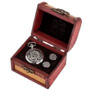 Celtic Square Knot Cufflinks & Mechanical Watch Set